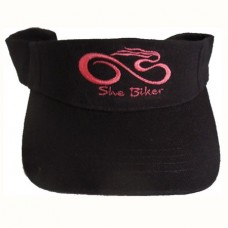 Black Visor with pink logo