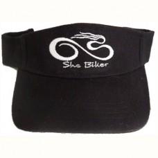 Black Visor with white logo